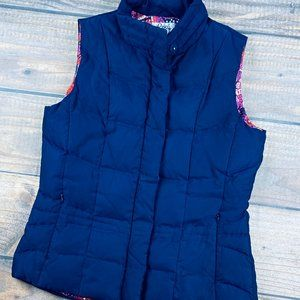 Lily Pulitzer  Down Quilted Winter Puffer Vest XS